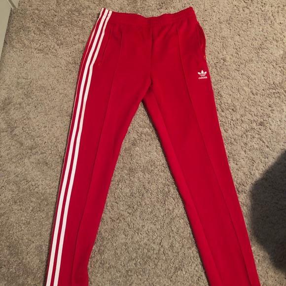 7029cecdb2192 red women's adidas pants XS